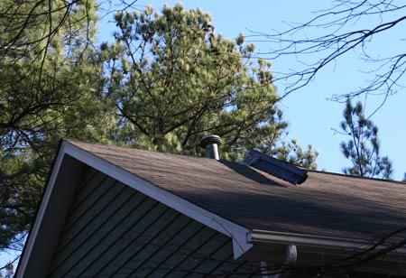 roof with bent ridge vent
