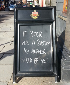 if beer was a question...