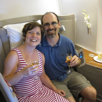 Bali 2014: Cathay Pacific First class
