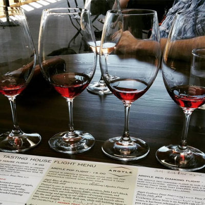 Leandra's 40th: wine tasting in Willamette Valley