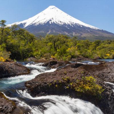 Patagonia: Petrohué Waterfalls + Osorno Volcano