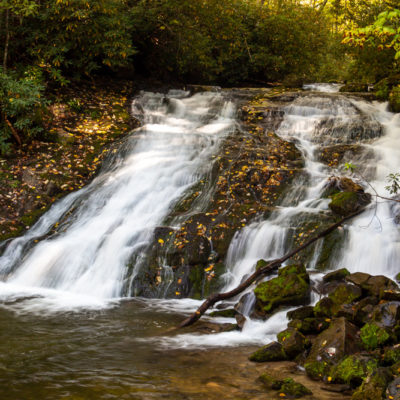 NC Mountains, October 2020: waterfalls near Bryson City